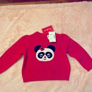 Baby girls 👧 Gymboree panda 🐼 sweater. NWT